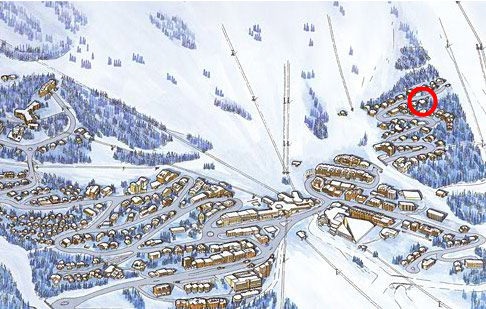The map shows the location of Courchevel